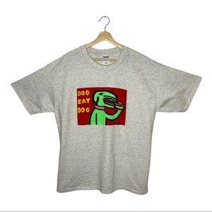 "1999 MARCOART ""Dog Eat Dog"" Pop Art Style  T-shirt"